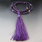 Amethyst Tibetan Buddhist Prayer Necklace - 108 Gemstones