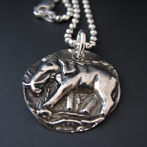 Lucky Silver Elephant Necklace