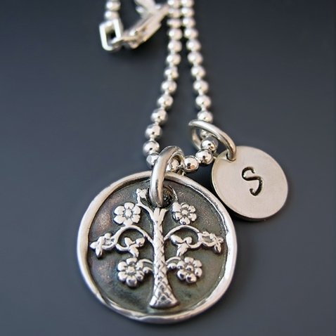 Fine Silver Family Tree of Life Necklace {Small}