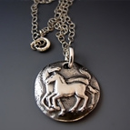 Mother and Foal Horse Necklace
