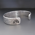 Your Mountain Is Waiting Silver Cuff Bracelet