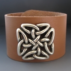 Square Celtic Love Knot Leather Bracelet