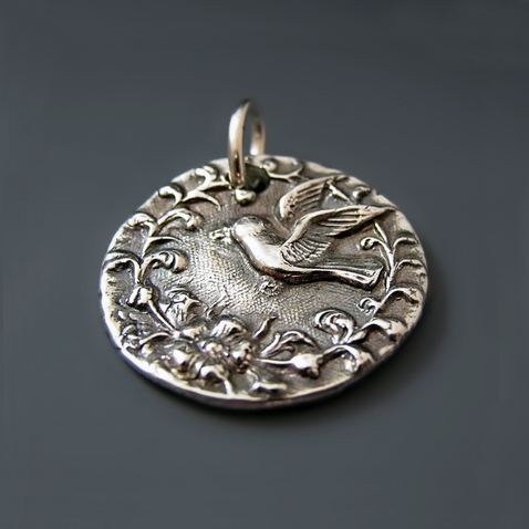 Sterling Silver Bird Pendant {Let Your Dreams Fly}