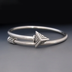 Sterling Silver Arrow Bypass Bracelet