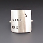 Sterling Silver Hand Stamped Square Ring
