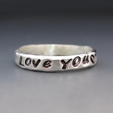 Sterling Silver I Love You Ring