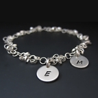 Sterling Silver Initial Charm Bracelet