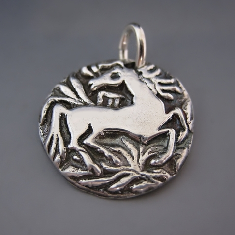 Sterling Silver Running Horse Charm {Follow Your Dreams}
