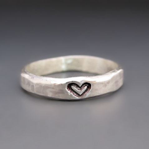 Sterling Silver You Have My Heart Ring