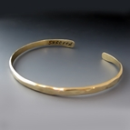 Men's Personalized Thin Gold Brass Cuff