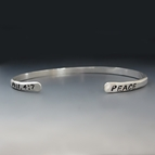 Men's Personalized Thin Metal Silver Cuff