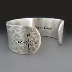 Not All Who Wander Are Lost Compass Bracelet