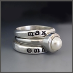 Personalized Hand Stamped Rings