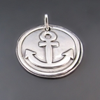 Sterling Silver Anchor Charm {Refuse to Sink}