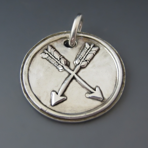 Fine Silver Double Arrow Charm {Friendship}