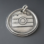 Sterling Silver Camera Charm {Capture Life Pendant}