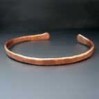 Copper Boyfriend Cuff { Thin Hammered Copper Bracelet }