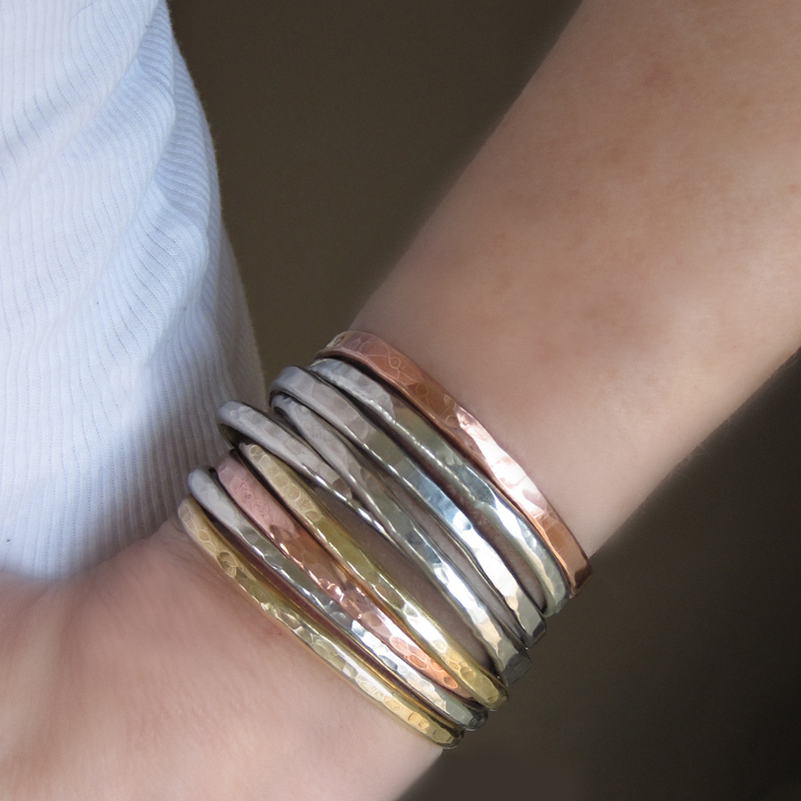 bracelets custom com jewelry filled hammered custommade gold hand bangle search of stackable skinny set bangles