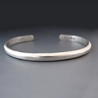 Thin One Sided STERLING SILVER Personalized Stacking Bracelet
