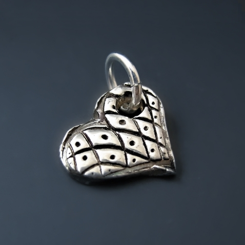 Tiny Sterling  Silver Heart Love Charm