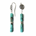 Turquoise Earrings in Stelring Silver