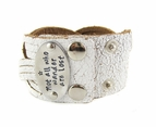 Wanderlust Leather Cuff Bracelet