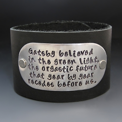 Women's 1.5 inch Wide Personalized Leather Cuff
