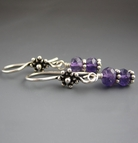 Wire Wrapped Earrings - Amethyst
