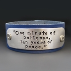 Woman's Personalized 1 Inch Wide Leather Bracelet
