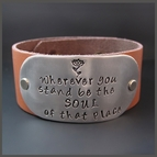 Leather Cuffs {Inspirational Quotes}