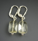 Yellow Quartz Earrings - Sterling Silver