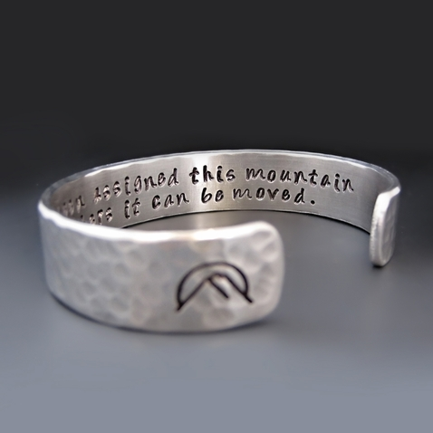 You Have Been Assigned This Mountain Silver Bracelet