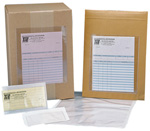 Pack of  100<br>6 1/8x9 1/2 Adhesive Back Envelopes