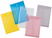 "Pack of  72<br>11"" x 14"" Plastic String Envelopes"
