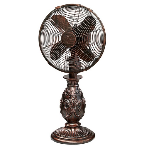 Best Table Top Fan : Deco breeze dbf fleur de lis table fan