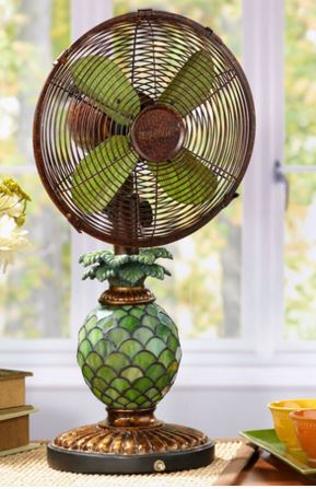 Decobreeze Mosaic Glass Pineapple Fan Lamp My Cooling Store