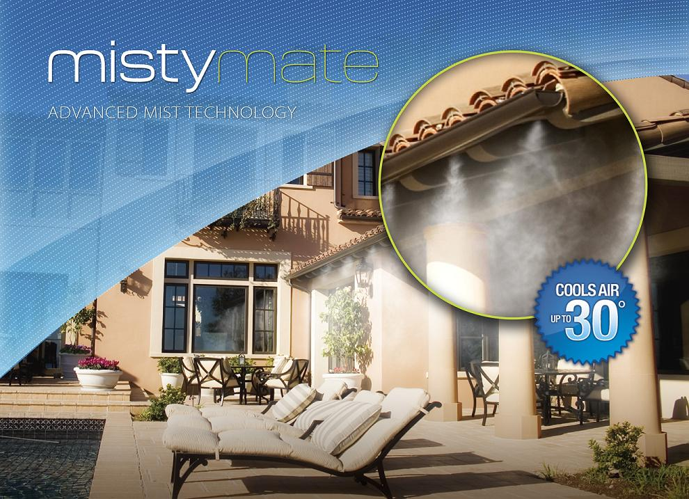 Patio Misting Systems : Mistymate cool patio foot home outdoor misting system