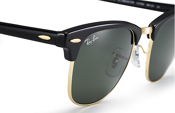 Ray-Ban Clubmaster Classic Sunglasses with Black   Tortoise Frame Green  Classic G-15 Lens cfc38d26ab2
