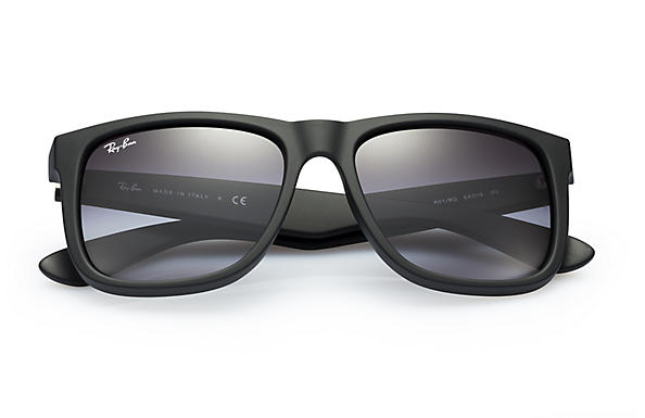 ca5a716ab4 Ray-Ban Justin Classic Sunglasses with Black Frame Grey Gradient Lens