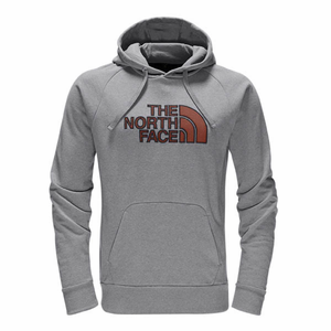 928af1006 The North Face Men's Avalon Half Dome Hoodie - Light Grey Heather/Ketchup  Red