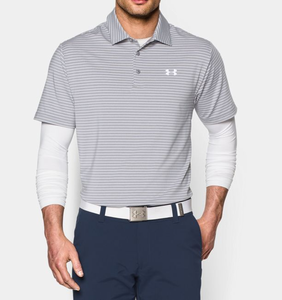 390c6597ec01 Under Armour Men's UA Playoff Polo Shirt - True Gray Heather/White/White