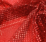 """3MM  Sequins on A/Knit Solid Red Width 38/39"""""""