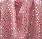 """3MM Sequins on A/Knit Solid Pink/Silver Width 41/42"""""""
