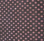 """3MM Sequins On American Knit Black/Pink Width 42/43"""""""