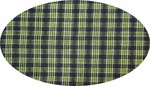 """Cotton Yarn Dyed Brushed or Flat Black/Green <br> Width 40/42"""""""