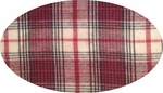 """Cotton Yarn Dyed Brushed or Flat Red/White <br> Width 40/42"""""""