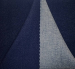 """Crepe Two Side Navy/Blue Width  58/60"""""""