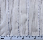 """Crinkled Chiffon w/Sequins White Width 50"""""""