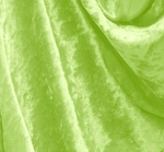 Crushed Panne Velour Apple Green Width 58/60""