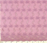 """Eyelet Embroidery Lilac 5K006 Width 41/42"""""""